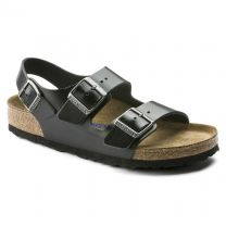 BIRKENSTOCK Unisex Milano Soft Footbed  Black Amalfi Leather - 0234531