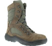 Reebok Womens Sage Green Suede Nylon Tactical Boots Fusion Max Steel Toe