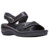 Propét Propet Women's Jocelyn Leather, Polyurethane Slingback Sandals
