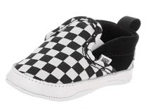 Vans Infant Checker Slip-On Black/True White Crib Shoes
