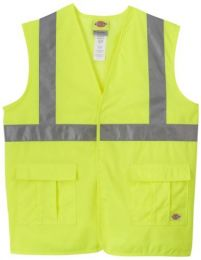 Dickie's VE201AY High Visibility Yellow ANSI Class 2 Utility Vest