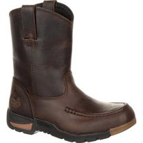 Georgia Boot Athens Big Kids' Pull-On Boot Brown