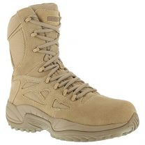"""Reebok Women's Stealth 8"""" Lace-Up Side-Zip Work Boot Composite Toe - Rb894"""
