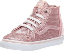 Vans Toddlers Glitter Metallic Sk8-Hi Zip Blush VN0A32R3QMN Skate Shoes
