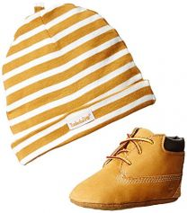 Timberland Crib Bootie and Hat Set