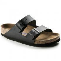 BIRKENSTOCK Unisex Arizona Soft Footbed Black Birko-Flor - 055125